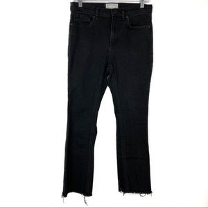 Everlane High Rise Cropped Jeans With Frayed Hem
